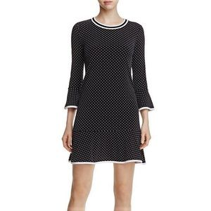 NWT Michael Kors polka dot flounce dress